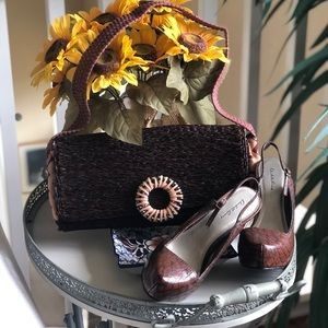 African Woven Straw Purse